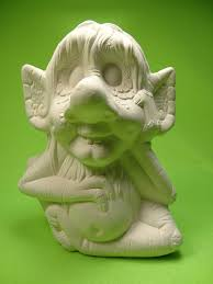your own ceramic garden troll figurine craft ikki