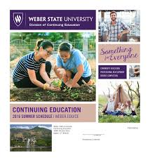 Weber State Campus Map by Weber State Community Education Catalog U2014summer 2016 By Weber State