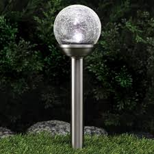 Solar Path Light Westinghouse Crackle Solar Path Light Stainless Steel Walmart Com