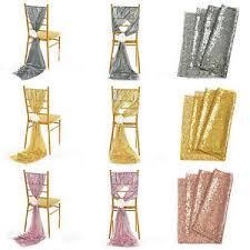 Champagne Chair Sashes Champagne Silver Gold 12