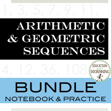 arithmetic and geometric sequences by docrunning teaching