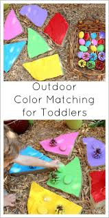 outdoor color matching for toddlers twodaloo