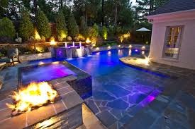 design pool collierville modern geometric pool spa outdoor living design