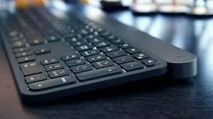 100 minimalist keyboard corner black wooden desk with white