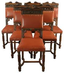 Ebay Furniture Dining Room Antique French Set 6 Dining Chairs Carved Lions Griffin Lions