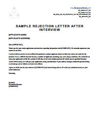 rejection letter template free download create edit fill and print