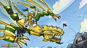 brickart lego ninjago golden dragon under attack youtube