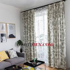 fresh light green floral printed curtains for bedroom buy green
