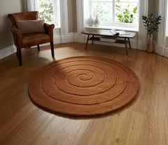 Round Rugs Modern by Spiral Hand Tufted 100 Wool Circular Rug Modern Textured Round