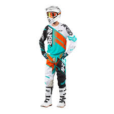 answer motocross helmets answer racing 2017 elite jersey pants package teal orange