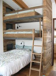 cabin bunk bed ideas kids rustic with triple decker bunk beds