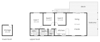 simple and straightforward cabin floor plan 3 bedrooms and 2