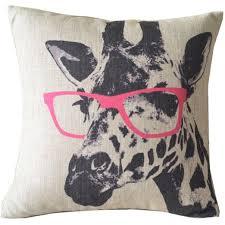 buy animal style giraffe pink glasses sofa simple home decor