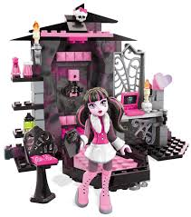 mega bloks monster high draculaura u0027s vamptastic room building set
