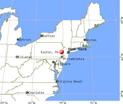 easton map easton pennsylvania pa 18042 profile population maps