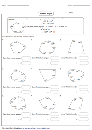 polygon worksheets