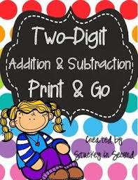 20 best two digit addition and subtraction images on pinterest