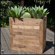 Planters On Wheels by Sustainable Planter Box Reclaimed Wood Design Planters Unlimited