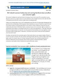 june ebulletin summer tips consumer rights and brexit