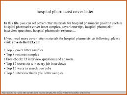 Pharmacist Resume Cover Letter Pharmacist Cover Letter General Resumes
