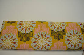 flower circuit in marigold linen fabric by anna maria horner