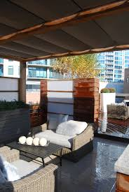 urban roof deck top landscape garden design outdoor lounge couch