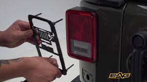 Jeep Jk Tail Light Covers Installing A Tail Light Guard On A Jeep Wrangler Jk Youtube