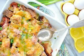 egg strata casserole ham egg and cheese breakfast strata the seasoned mom