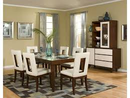 Dining Room Set With China Cabinet by Najarian Enzo Dining Rectangular Leg Dining Table With 12