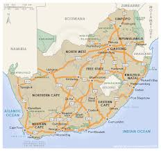 map of south africa south africa national roads