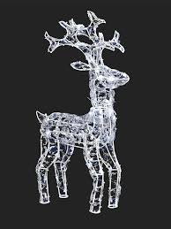 Christmas Garden Decorations Uk by Buy 68cm Twinkling Led Reindeer White From Seasons Christmas Outlet
