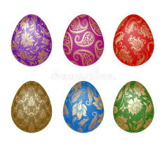 easter egg ornaments set of easter eggs with ornaments stock vector illustration of