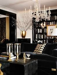 Decorating Ideas For Living Room by Black White And Gold Color Scheme Interiors 24 Photos Messagenote