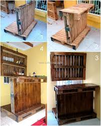 Pallet Furniture Bar Excellent Ideas With Reused Wooden Pallets Pallet Ideas