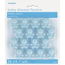plastic blue teddy bear baby shower favors boy baby shower favors