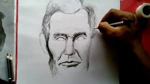 how to draw abraham lincoln step by step easy drawing youtube