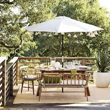Outdoor Patio Dining Sets With Umbrella Dexter Outdoor Expandable Dining Table West Elm