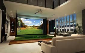 GolfsimulatorreviewsHomeTheaterModernwithamenityden - Family room entertainment