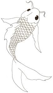 nice fish drawing could be adapted for stained glass koi fish