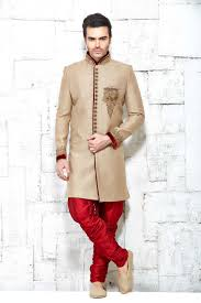 jodhpuri shervanis online shopping dubai beige sherwani in jute silk