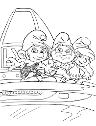 funny smurfs coloring pages kids printable free smurfen