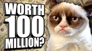 Rich Cat Meme - grumpy cat is rich as f ck youtube