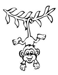 printable coloring pages monkeys free printable monkey coloring page cj 1st birthday pinterest
