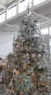 frosty blue and green christmas tree design idea christmas
