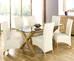chair cover ideas improbable glass dining table with white leather chairs ideas