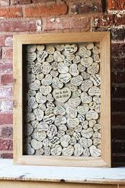 guest sign in ideas creative guest books the lovely wedding frame with wooden hearts