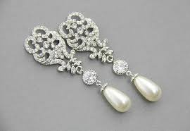 and pearl chandelier earrings wedding chandelier earrings bridal earrings pearl earrings