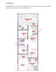 tutorial autocad gambar kerja rumah tinggal bagian 1 denah