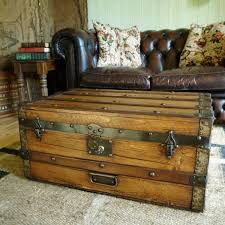 Decorative Trunks For Coffee Tables Furniture Adorable Rustic Trunk Coffee Table Wood Design For Top