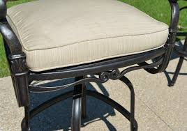 3 Piece Bar Height Patio Set Serena Luxury 3 Piece All Welded Cast Aluminum Patio Furniture Bar